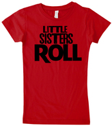 Micro Me Red 'Little Sisters Roll' Tee - Infant Toddler & Girls