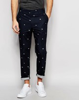 Asos Slim Smart Pants in Floral Print