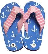 Hatley Girls' Lbh Kids Flip Flops Anchors Beach and Pool Shoes,XL Child UK