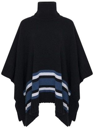 The Guestlist Collection- Ava Black Blue Poncho