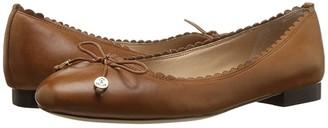 Lauren Ralph Lauren Glennie (Black Super Soft Leather) Women's Flat Shoes