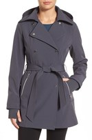 Jessica Simpson Double Breasted Soft Shell Trench Coat
