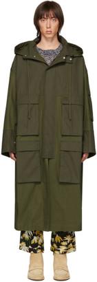 Loewe Khaki Patch Pocket Coat