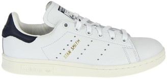 adidas Stan Smith White And Blue Sneakers
