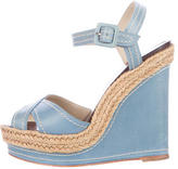 Christian Louboutin Almeria 120 Leather Wedges