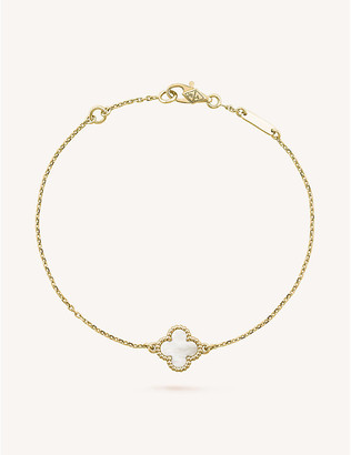 Van Cleef & Arpels Women's Yellow Gold Sweet Alhambra And Mother-Of-Pearl Bracelet