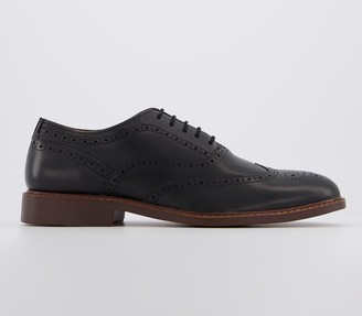 Office Mean Brogue Shoes Black Leather