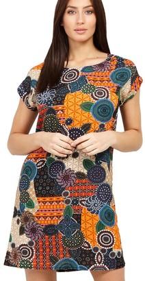 M&Co Izabel mosaic print shift dress