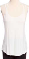 Pure Style Girlfriends Ivory Low-Back Strappy Tank