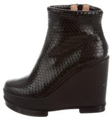 Robert Clergerie Embossed Ankle Boots