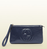 Gucci Soho Soft Patent Leather Wrist Wallet