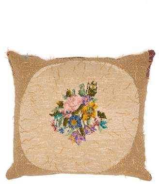 By Walid 1920s Needlepoint Embroidered Cushion - Multi
