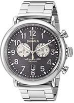 Shinola Detroit 47 mm Runwell Chrono (Cool Gray/Silver Bracelet) Watches
