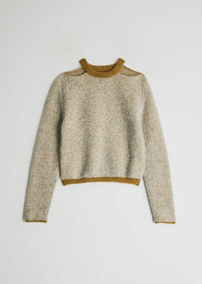 Eckhaus Latta Women's Clavicle Sweater in Pebble Lichen, Size Small | Baby Alpaca/Wool/Polyamide