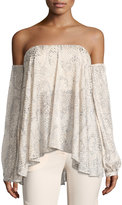 Haute Hippie My Amour Off-the-Shoulder Blouse