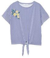 MANGO Embroidery striped t-shirt