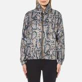 Kenzo Women's Snake Nylon Rain Jacket Beige