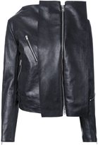 Yang Li panelled biker jacket - women - Calf Leather - 44