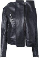 Yang Li panelled biker jacket