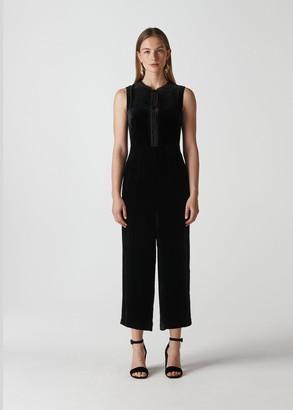 Florrie Silk Mix Jumpsuit