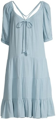 Rebecca Taylor Double Gauze Tiered Dress
