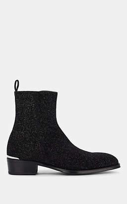Alexander McQueen Men's Glitter Boots - Black