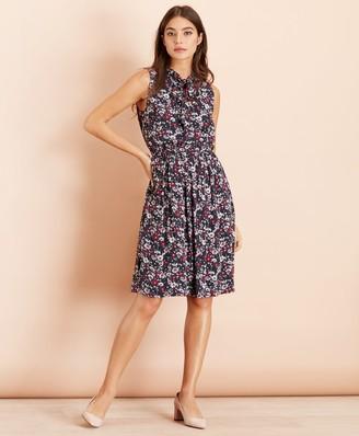 Brooks Brothers Floral-Print Crepe Dress