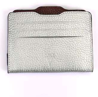 Atelier Hiva Double Card Holder Silver & Burgundy
