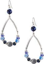 Lydell NYC Beaded Teardrop Earrings, Blue