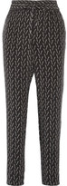 Equipment Hadley Washed-silk Track Pants - Black
