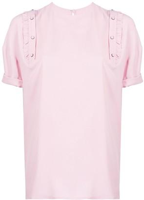 No.21 ruffle detail t-shirt