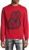 McQ Crazy Bunny Cotton Sweatshirt, Red