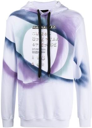 Mauna Kea Long-Sleeved Tie Dye Print Hoodie