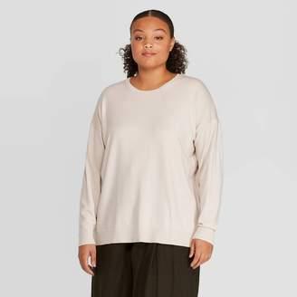 Women's Plus Size Crewneck Essential Pullover - PrologueTM