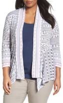 Nic+Zoe Plus Size Women's Maze Meadows Stripe Cardigan