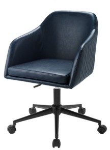 Walker Edison Tyler Quilted Upholstered Barrel Swivel Task Chair