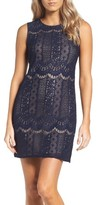 Adrianna Papell Petite Women's Lace A-Line Dress