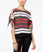 Amy Byer Juniors' Striped Tie-Sleeve Top
