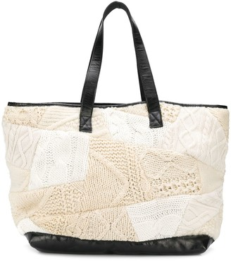 Yohji Yamamoto Pre-Owned 2000's Knitted Patchwork Shopper