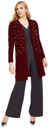 Charter Club Pure Cashmere Embellished Cardigan, Regular & Petite Sizes