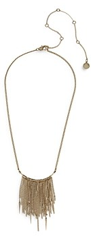 AllSaints Spike Chain Fringe Necklace, 16