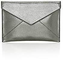 Rebecca Minkoff Women's Leo Lizard-Embossed Metallic Leather Envelope Clutch