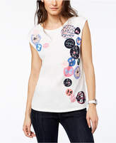 Tommy Hilfiger Cap-Sleeve Patchwork T-Shirt, Created for Macy's