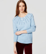 LOFT Sequin Cable Sweater