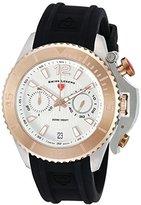 Swiss Legend Men's 'Scorpion' Quartz Stainless Steel and Silicone Automatic Watch, Color:Black (Model: 14018SM-SR-02S)