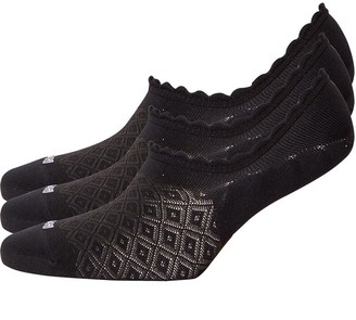 S.O.H.O New York Womens Collection Three Pack High Fit Footsies Black