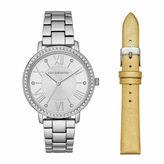 Liz Claiborne Womens Silver Tone Watch Boxed Set-Lc4002