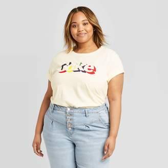 Coca Cola Women's Coca-Cola Plus Size Short Sleeve Graphic T-Shirt (Juniors') - Natural