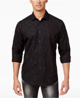 INC International Concepts Men's Non Iron Cross Hatch Cotton Shirt, Created for Macy's