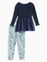 Splendid Little Girl Sweater Top with Allover Print Pant